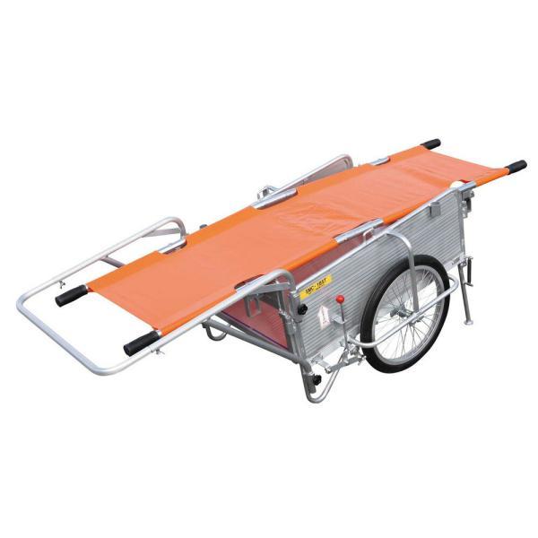 アルミ製折りたたみ式リヤカー SMC-1BST 昭和ブリッジ販売 [担架付き 防災 リヤカー 運搬器具 園芸用品 ガーデニング 農業 ]