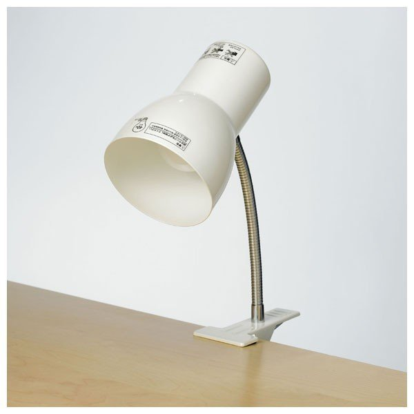 RoomClip商品情報 - クリップライト SPOT-BLNE26C(PW) ELPA [クリップライト 簡易照明]