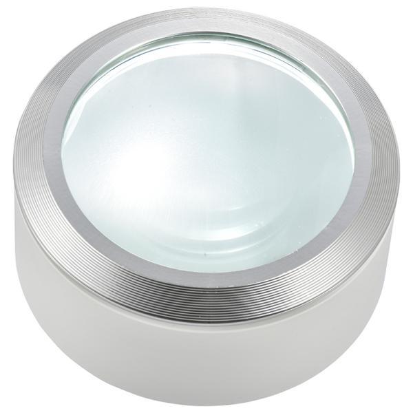 L-ZOOM LEDデスクルーペ3 ホワイト [品番]08-0785 LH-M10DL-3W オーム電機 [ルーペ ライト 拡大鏡 ライト付き]