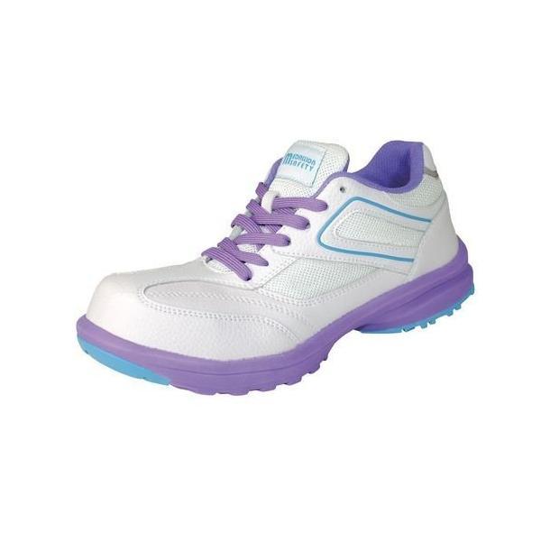 LADY'S FIT メダリオン セーフティ ホワイト 23.5cm 丸五 [安全靴 レディース シューズ スニーカー 靴 作業靴 作業服 作業着 ワーク]