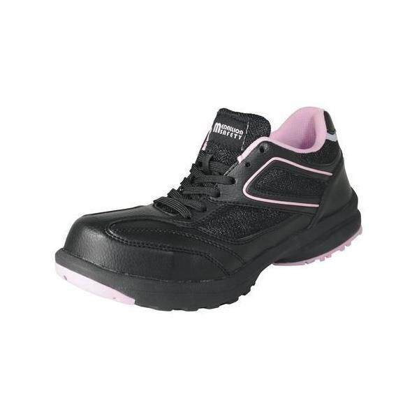 LADY'S FIT メダリオン セーフティ ブラック 25.0cm 丸五 [安全靴 レディース シューズ スニーカー 靴 作業靴 作業服 作業着 ワーク]