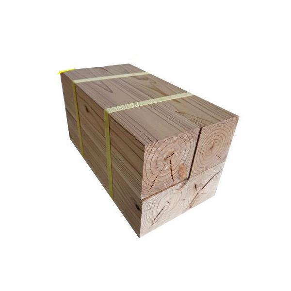 杉ブロック 直方体 90mm×90mm×300mm 4個セット 織田商事 [杉 天然杉 木材 ブロック ブロック材 工作 DIY 角材 ウッドブロック 端材 木端]