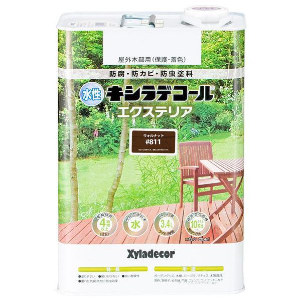 大阪ガスケミカル 水性キシラデコール エクステリアS ウォルナット 3.4L