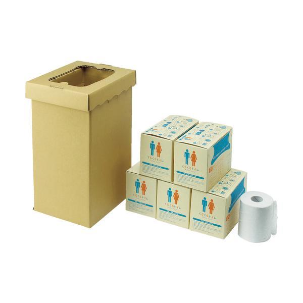sanwa 非常用トイレ袋 くるくるトイレ100回分 1S 400785 ※配送毎送料要