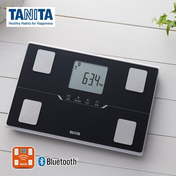 タニタ 体重計 体組成計 スマホ連動 BC-768-BK メタリックブラック 黒 コンパクト 薄型 アプリ 対応 bluetooth 健康管理 体重 体脂肪計 見やすい TANITA