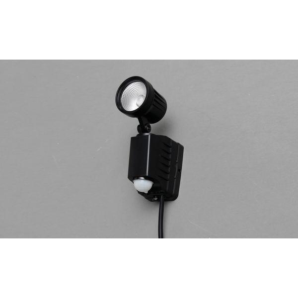 アイリスオーヤマ AC式LED防犯センサーライト(昼白色) ブラック LSL-ACSN-400D