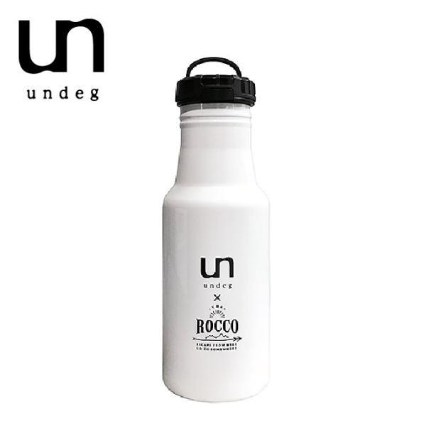 undeg アンデグ ワンタッチボトル 500mL ROCCOコラボ カラー/ホワイト head-spring