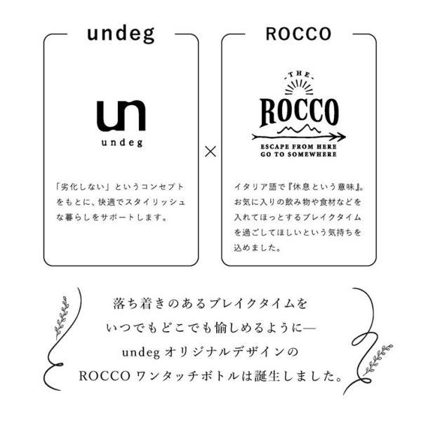 undeg アンデグ ワンタッチボトル 500mL ROCCOコラボ カラー/ホワイト head-spring 03