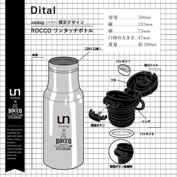 undeg アンデグ ワンタッチボトル 500mL ROCCOコラボ カラー/ホワイト head-spring 07