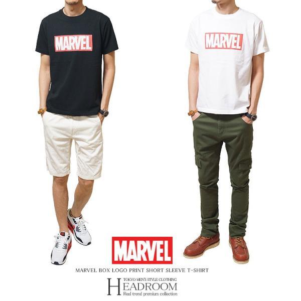 Tシャツ メンズ 正規ライセンス MARVEL マーベル ボックスロゴ コットン100% アメカジ|headroom|04