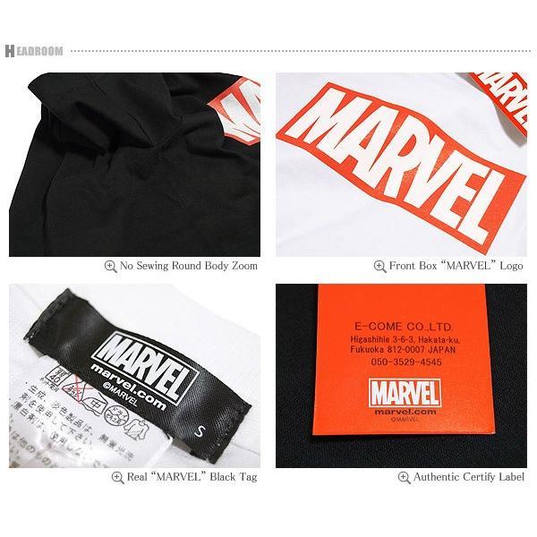 Tシャツ メンズ 正規ライセンス MARVEL マーベル ボックスロゴ コットン100% アメカジ|headroom|05
