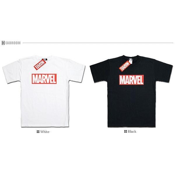 Tシャツ メンズ 正規ライセンス MARVEL マーベル ボックスロゴ コットン100% アメカジ|headroom|06