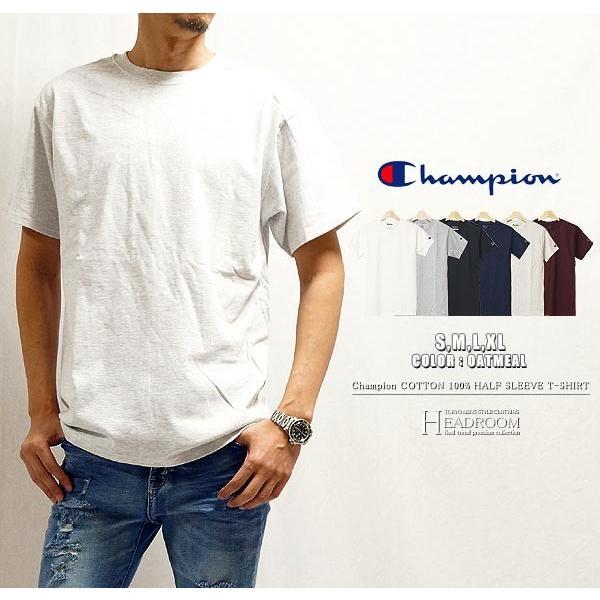 Tシャツ カットソー メンズ アメカジ 半袖Tシャツ ビッグシルエット Champion チャンピオン クルーネック 無地 US規格 セール|headroom|12