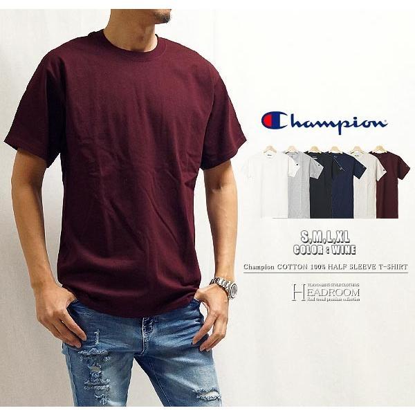 Tシャツ カットソー メンズ アメカジ 半袖Tシャツ ビッグシルエット Champion チャンピオン クルーネック 無地 US規格 セール|headroom|14