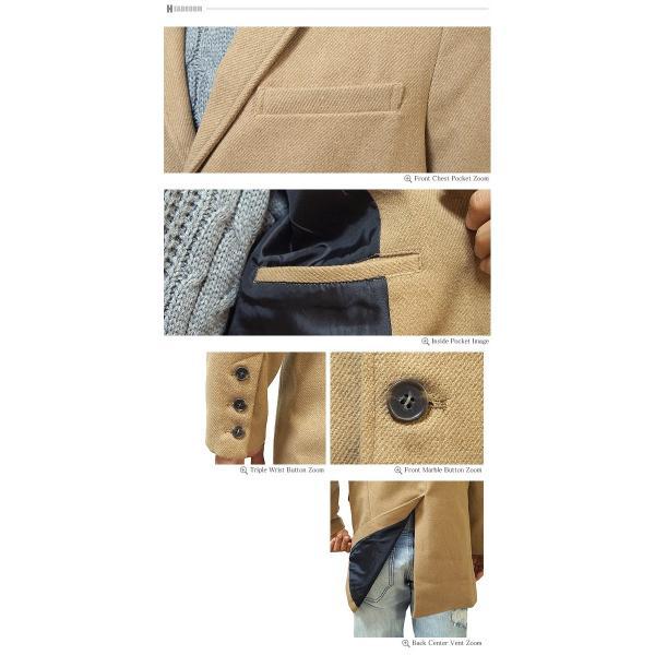 コート メンズ カルゼ編み メルトン ウール 起毛 ロング チェスターコート スリム|headroom|16