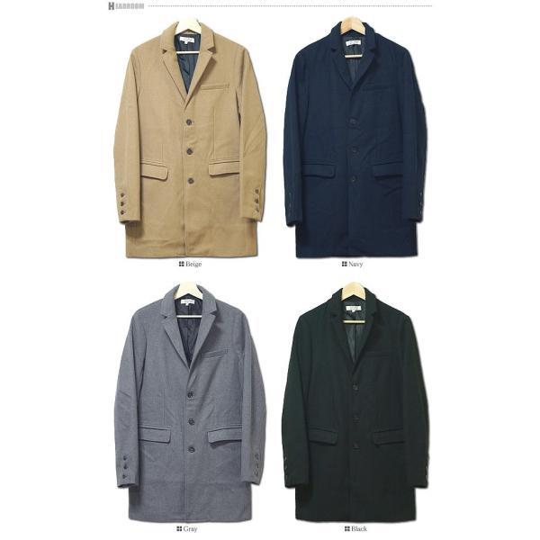 コート メンズ カルゼ編み メルトン ウール 起毛 ロング チェスターコート スリム|headroom|17