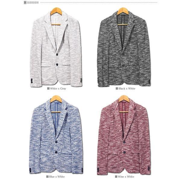 テーラードジャケット メンズ ブークレ MIX スリム テーラー|headroom|06