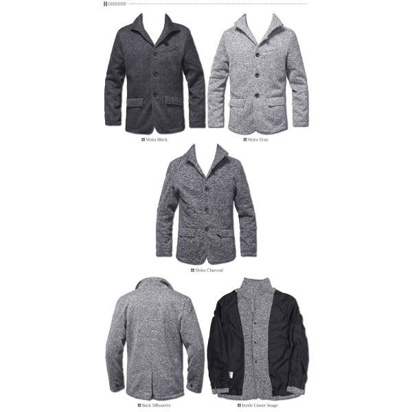 テーラードジャケット メンズ イタリアンカラー メランジ フリース ジャケット headroom 05