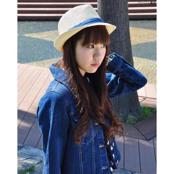 【Coudefre】クードフレ ペーパーブレードハット麻リボンがかわいい中折れハットレディース|headwear-blake|04