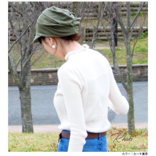 折りたたみ 帽子 レディース オールシーズン 被れて 小顔効果 ゆったりタイプ 三段 キャスケット 女性用 ニット帽 春夏 万能 キャスケット|headwear-blake|14