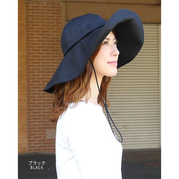 帽子 レディース ハット 調節帽子つばの長さ二種類 UV カッ ト 紫外線防止対策 日焼けツバ広帽子 レディースハット|headwear-blake|03