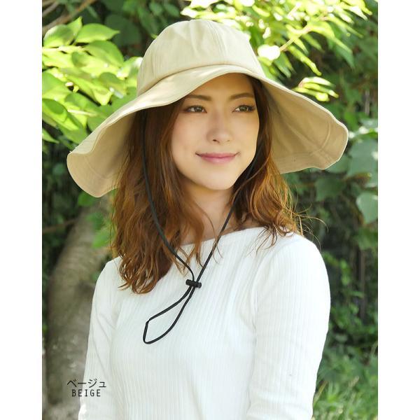 帽子 レディース ハット 調節帽子つばの長さ二種類 UV カッ ト 紫外線防止対策 日焼けツバ広帽子 レディースハット|headwear-blake|04