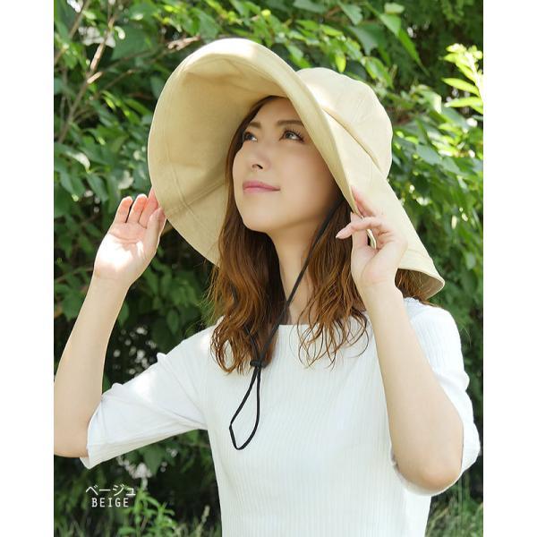 帽子 レディース ハット 調節帽子つばの長さ二種類 UV カッ ト 紫外線防止対策 日焼けツバ広帽子 レディースハット|headwear-blake|05