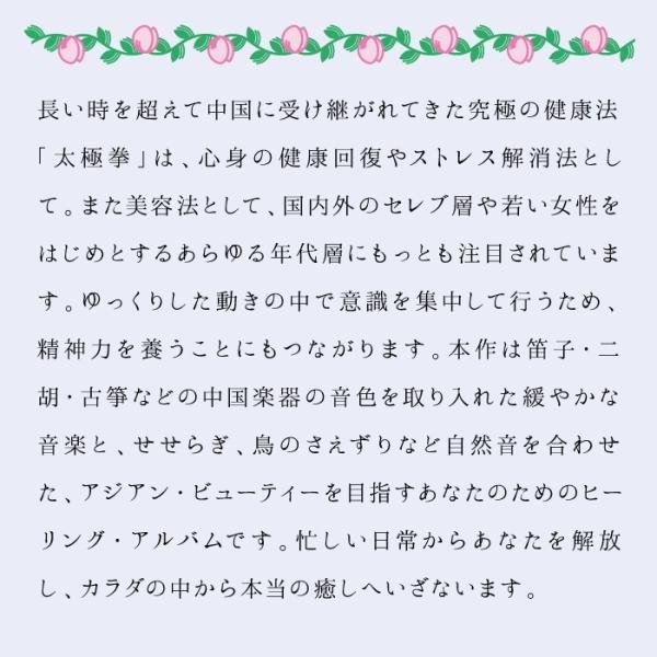 太極拳ヒーリング CD 音楽 癒し ヒーリングミュージック 不眠 ヒーリング|healingplaza|03