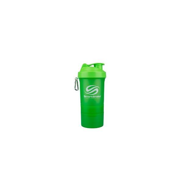プロテインシェーカー Smartshake O2GO 600ml ネオングリーン 2個セット
