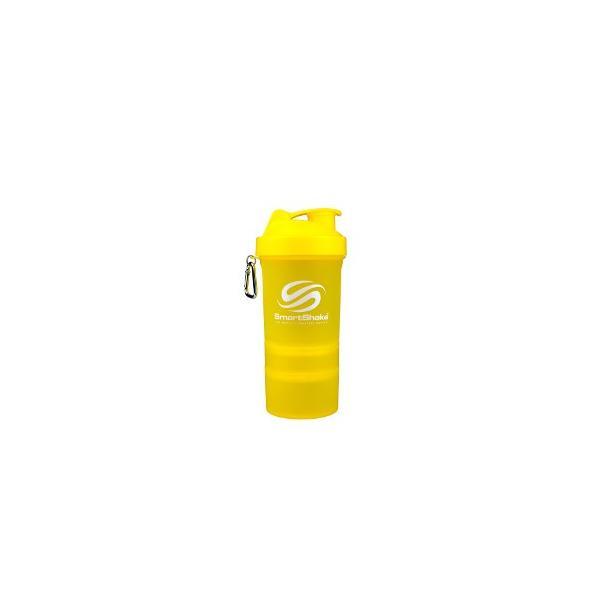 プロテインシェーカー Smartshake O2GO 600ml ネオンイエロー 2個セット