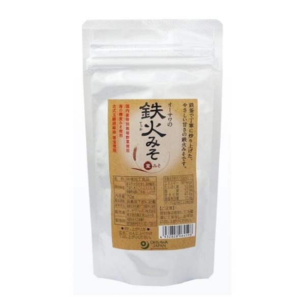 オーサワの鉄火みそ 麦みそ 70g  - オーサワジャパン