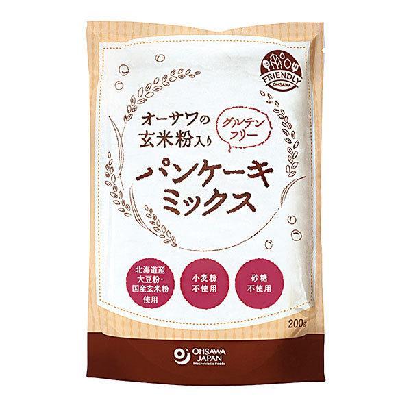 オーサワジャパン 玄米粉入り グルテンフリーパンケーキミックス 200g  - オーサワジャパン [ホットケーキ]