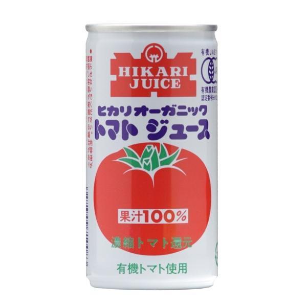 光食品 有機JAS認定 オーガニックトマトジュース 有塩190g×30缶