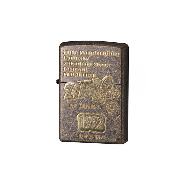 ZIPPO(ジッポー)ライター アンティークオールドZIPPOロゴ 真鍮メッキ 2BB-ZLOGO1932