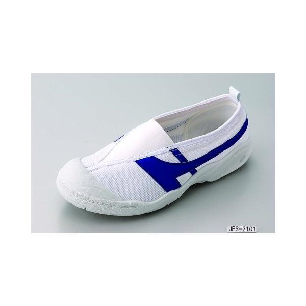 健康上履きJES 2101(甲ゴムタイプ) 靴底に通気...