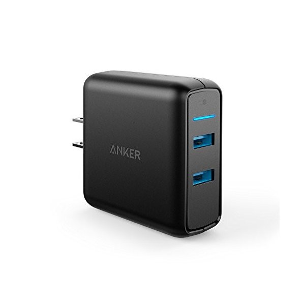 Anker PowerPort Speed 2 (QC3.0 2ポート搭載、39.5W 2ポート USB急速充電器) iPhone、Android各種対応 A2025111|healthysmile