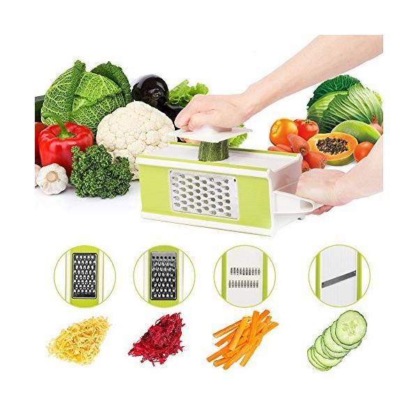 Hodoo 薄切り機 スライサー ステンレス キッチン用品 おろし器|healthysmile|02