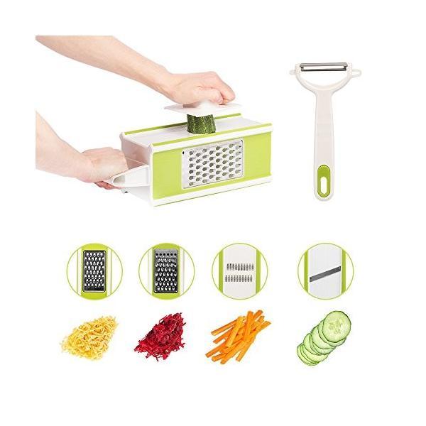 Hodoo 薄切り機 スライサー ステンレス キッチン用品 おろし器|healthysmile|03