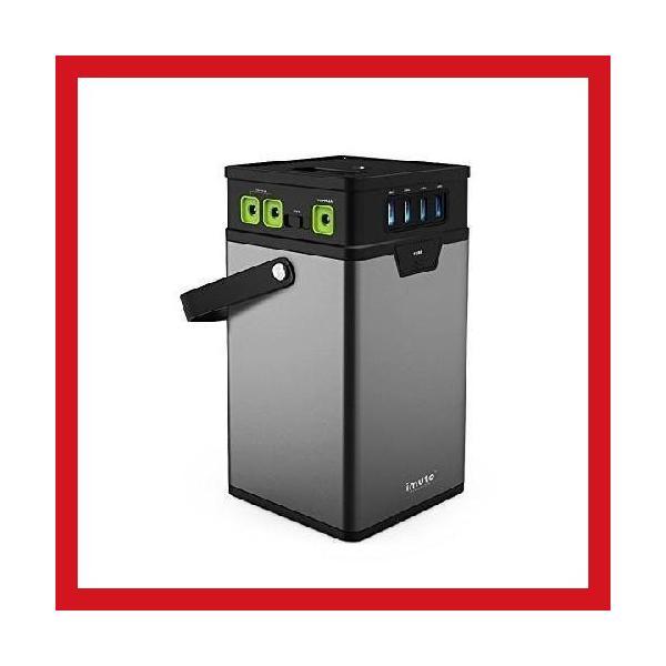 iMuto M10 ポータブル電源 372Wh/100500mAh 大容量バッテリー USB&DC&AC出力 正弦波 バックアップ用予備電源 家庭用蓄電池 100Wインバーター付|healthysmile