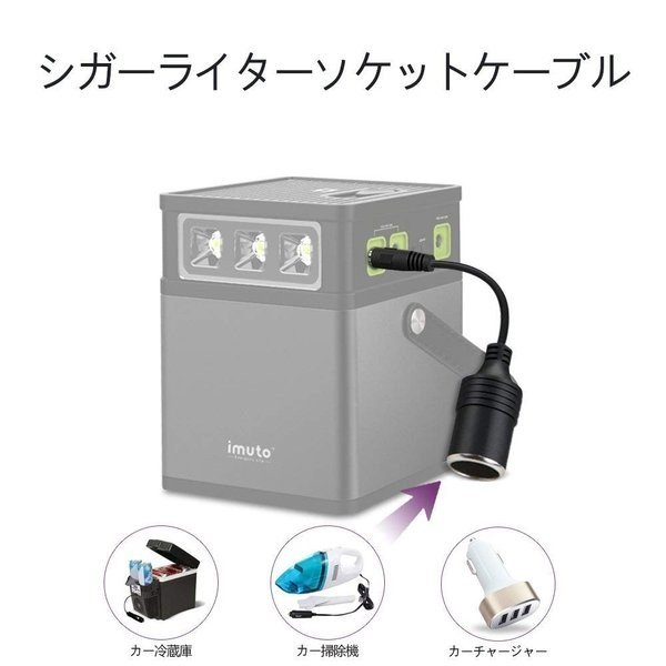 iMuto M10 ポータブル電源 372Wh/100500mAh 大容量バッテリー USB&DC&AC出力 正弦波 バックアップ用予備電源 家庭用蓄電池 100Wインバーター付|healthysmile|12