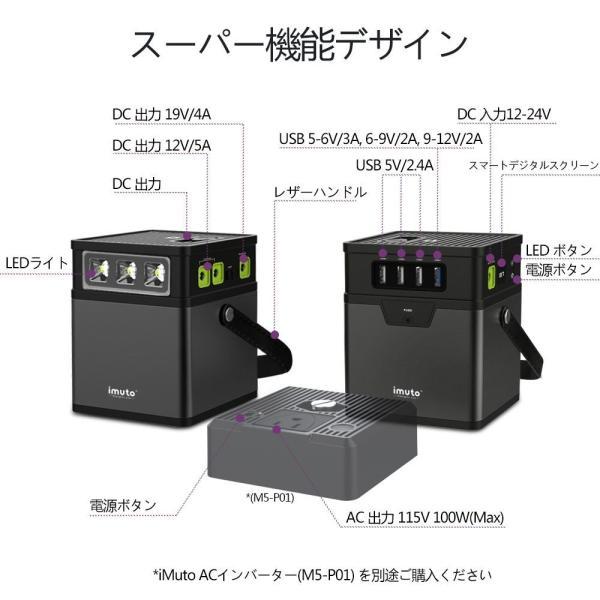 iMuto M5 182Wh/50000mAh ポータブル電源 大容量バッテリー 家庭用 蓄電池 USB&DC&AC 出力対応緊急・災害時バックアップ用予備電源100Wインバーター付|healthysmile|03