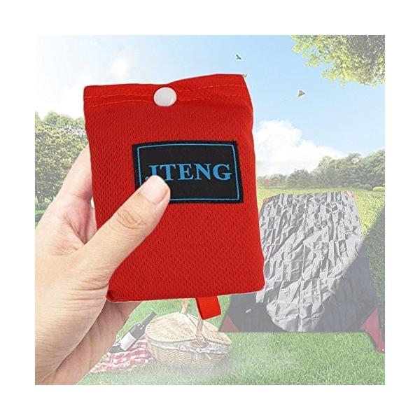 JTENG レジャーシート 防水 軽量 折りたたみ式 グランドシート コンパクト ポケットレジャーシート 携帯 手のひらサイズ 160×110cm|healthysmile