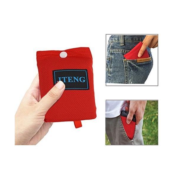 JTENG レジャーシート 防水 軽量 折りたたみ式 グランドシート コンパクト ポケットレジャーシート 携帯 手のひらサイズ 160×110cm|healthysmile|05