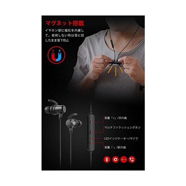 訳アリ ワイヤレスイヤホン アウトレット SoundPEATS(サウンドピーツ) Bluetooth イヤホン Q35 PRO AAC & APT-Xコーデック対応 高音質・低遅延 ブラック healthysmile 06