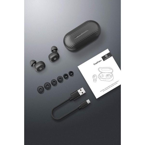 ワイヤレスイヤホン SoundPEATS(サウンドピーツ) TrueFree+  Bluetooth 5.0 完全 AAC対応 防水 小型 軽量 TWS ブルートゥース ヘッドホン ブラック|healthysmile|07