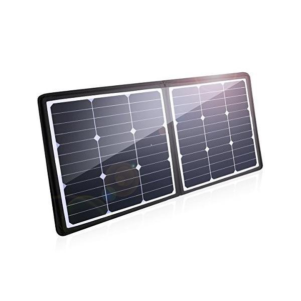Poweradd ソーラーチャージャー 50W ソーラー充電器 軽量 薄型 折りたたみ式 ソーラーパネル 防水 耐衝撃 防塵 防災 非常用 スマホ充電器 アウトドア|healthysmile