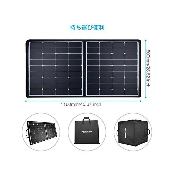 Poweradd ソーラーチャージャー 50W ソーラー充電器 軽量 薄型 折りたたみ式 ソーラーパネル 防水 耐衝撃 防塵 防災 非常用 スマホ充電器 アウトドア|healthysmile|02