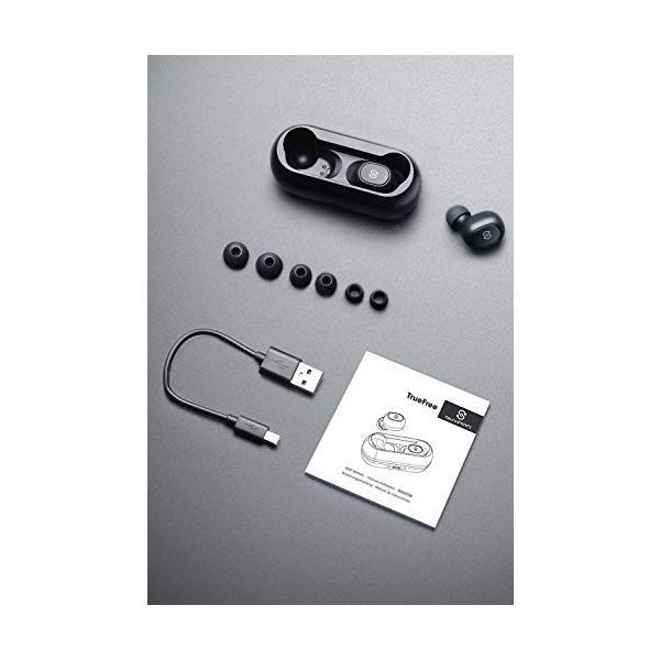 ワイヤレスイヤホン SoundPEATS(サウンドピーツ) TrueFree Bluetooth 5.0 完全AAC対応 20時間連続再生 左右独立型マイク内蔵両耳通話 防水小型軽量 ブラック|healthysmile|07