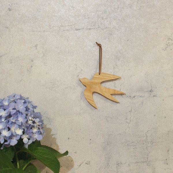 つばめオーナメント M×Sセット  ツバメ 春 1,000円ポッキリインテリア 無垢 木製 北欧 ガーランド デコレーション 壁 バード 鳥|heart-box|06