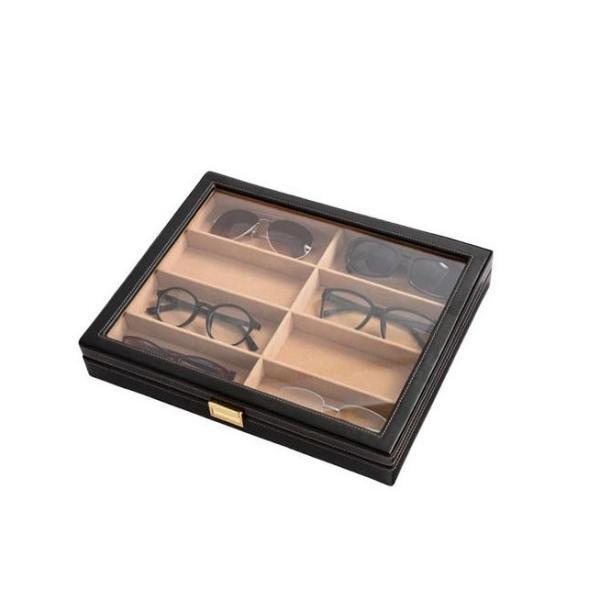 直送品 代引き不可 茶谷産業 Elementum(エレメンタム) レザーメガネケース(コレクションケース) 8本用 240-452 ご注文後2〜3営業日後の出荷となります